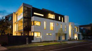 modern lighted house