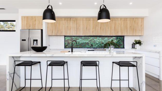 new kitchen black and white
