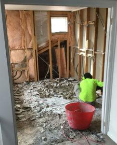 demolition of room
